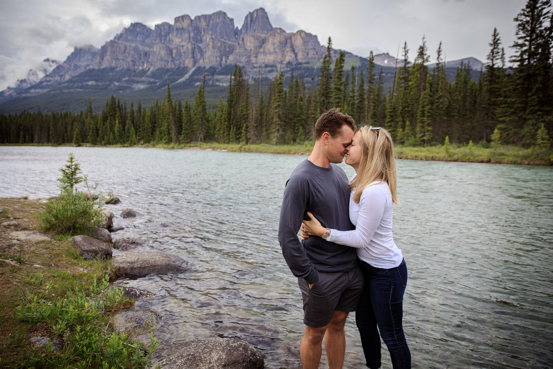 Surprise Proposal Castle Mountain Banff