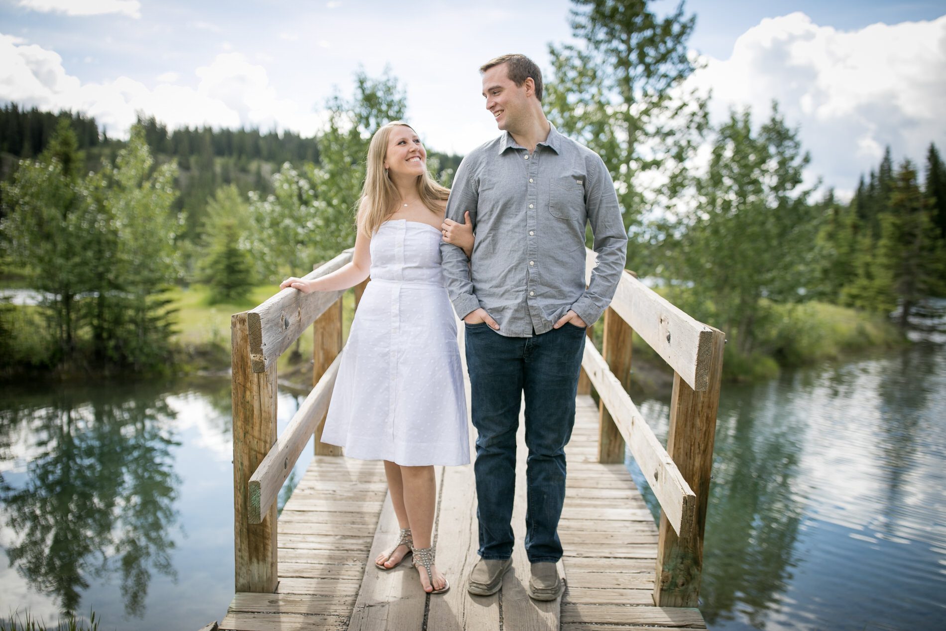 Banff Engagement Photographer Cascade Ponds