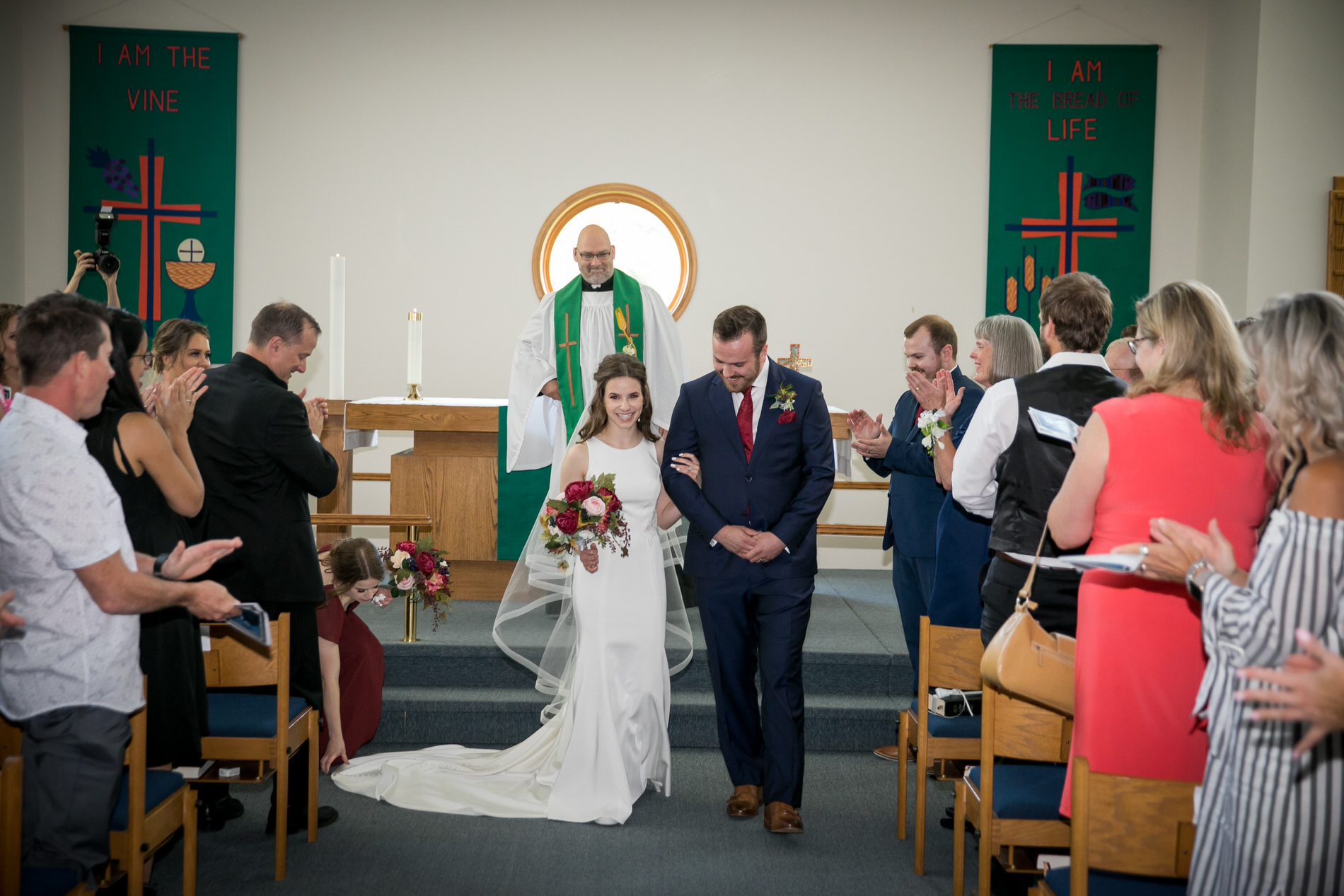 Bride and Groom Wedding Edmonton Riverbend Lutheran Church