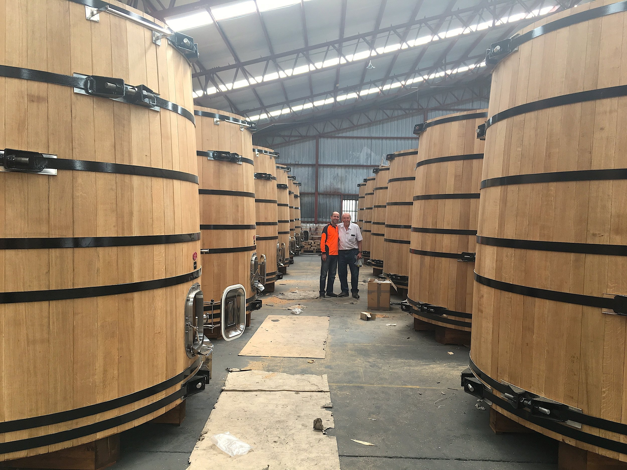 Oak vats for local whisky distillery