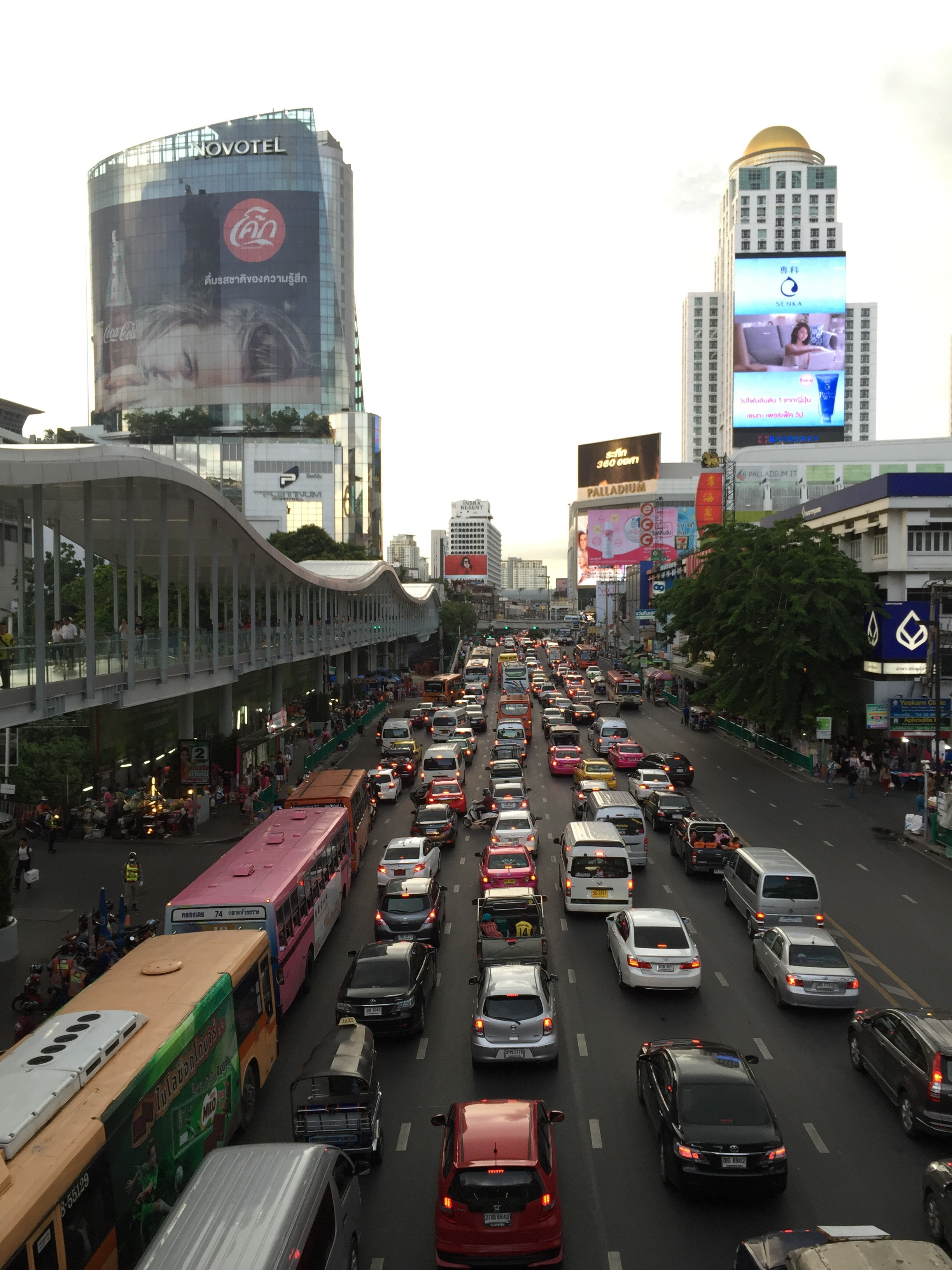 The center of Bangkok, most caotic city in the world...