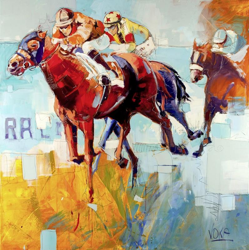 THE RACE 02, 180x180 cm/70,9x70,9 inch, acrylic on canvas