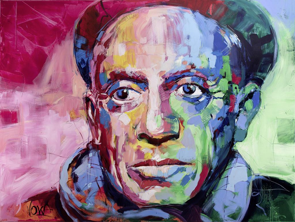 Pablo, 190x250 cm/74,8 x 98,4 inch, acrylic on canvas.