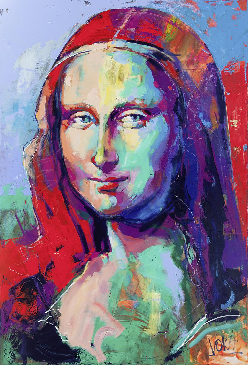 Mona Lisa, 280x190 cm/110,24x74,8 inch, acrylic on canvas.