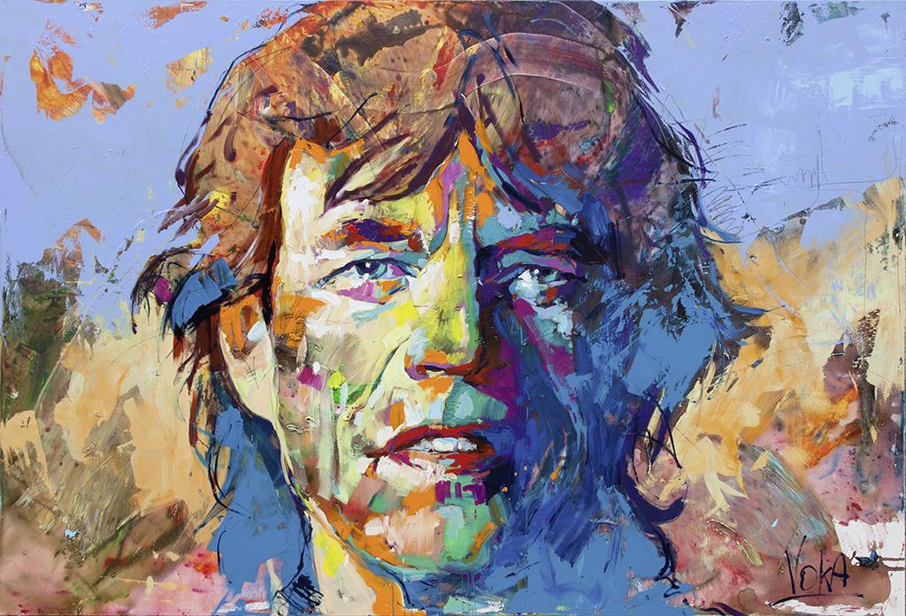 Mick, 280x190cm/ 110,2x74,8 inch, acrylic on canvas