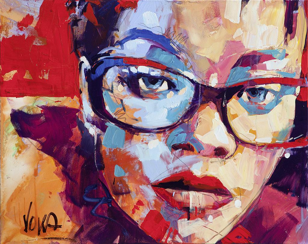Head, 80x100cm/ 31,5x39,4 inch, acrylic on canvas