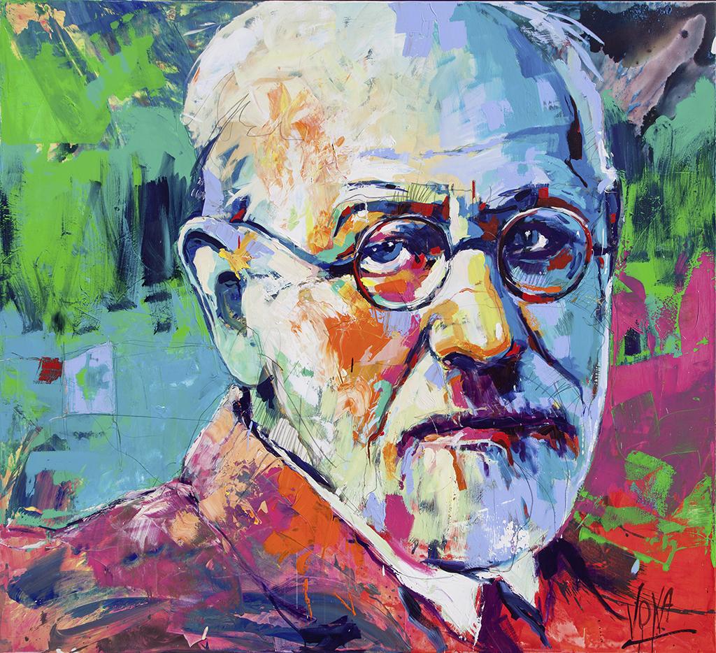 Sigmund, 190x210cm/ 74,8x82,7 inch, acrylic on canvas