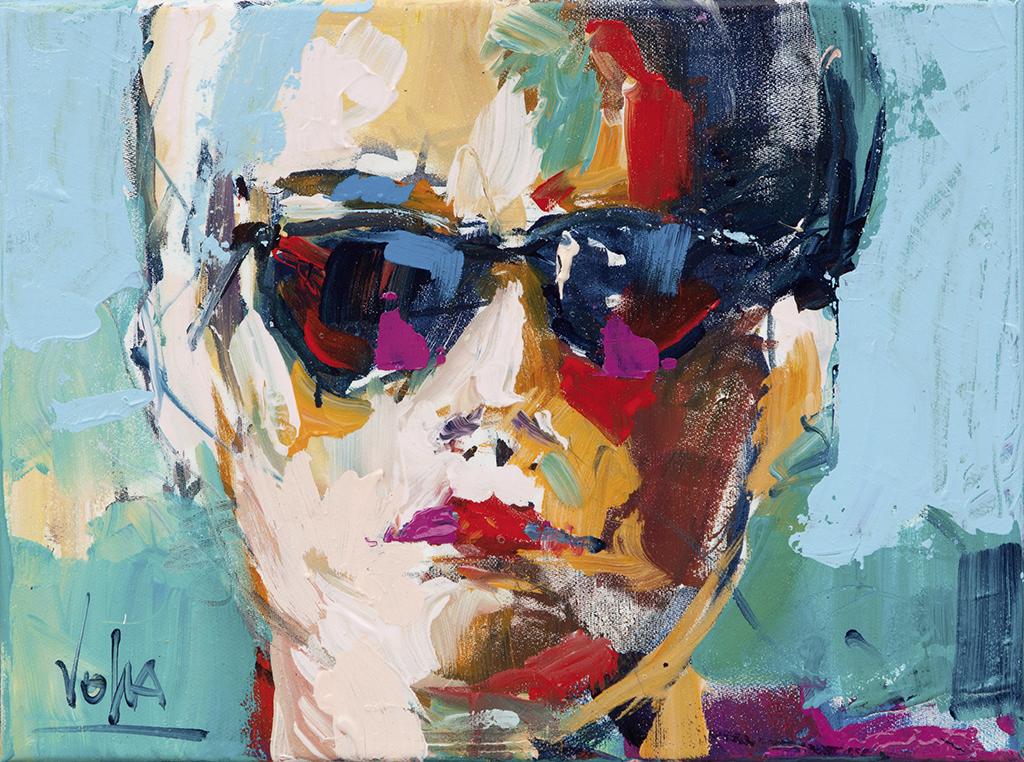 Head, 30x40 cm/11,8x15,8 inch, Acrylic on Canvas