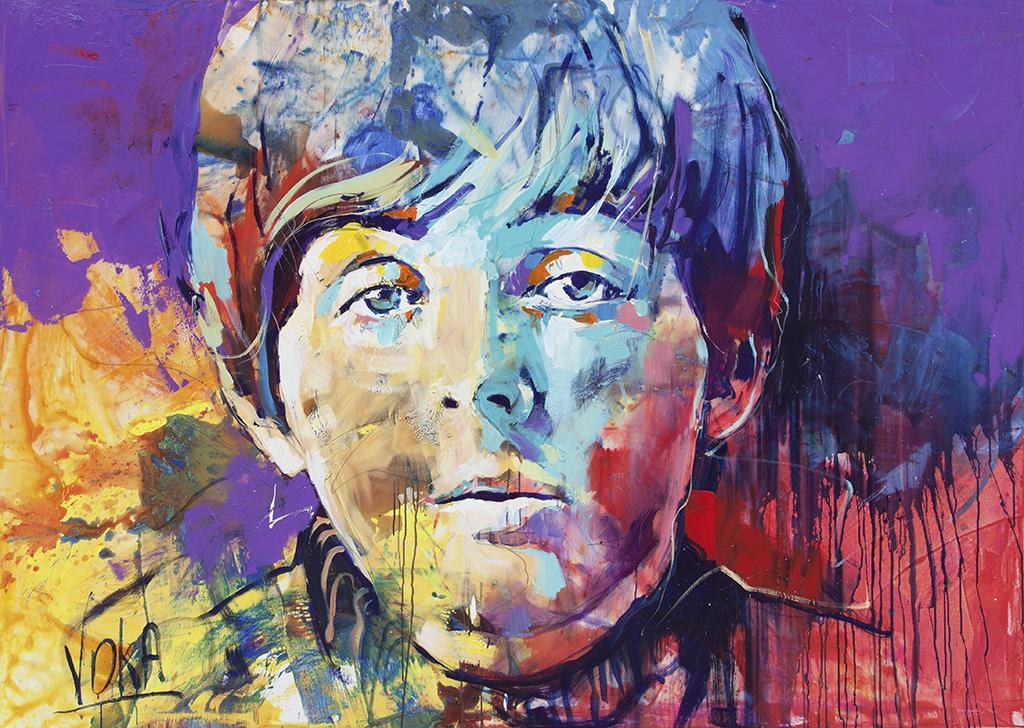Paul, 150x210cm/ 59,1x82,7 inch, acrylic on canvas