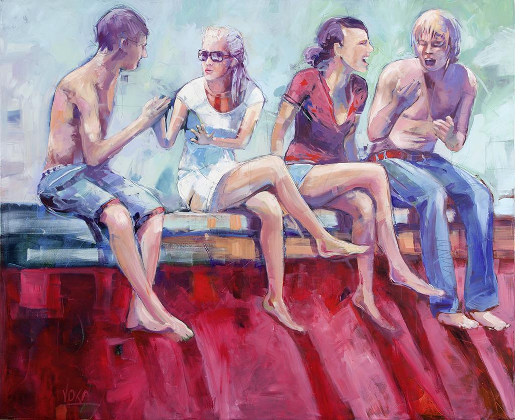 People 03, 180x220 cm/70,9 x 86,6 inch, acrylic on canvas,