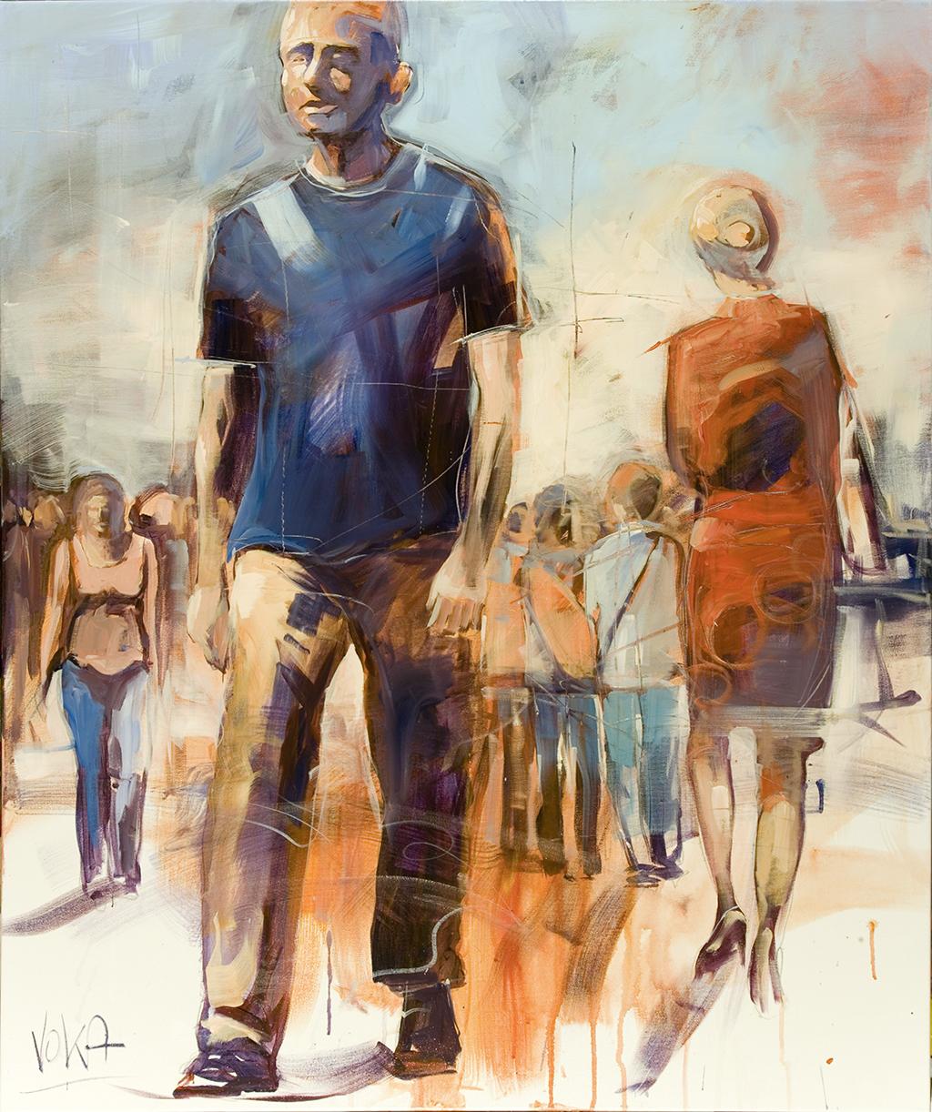 People, 120X100cm / 47,2X39,4 inch, Acrylic on Canvas