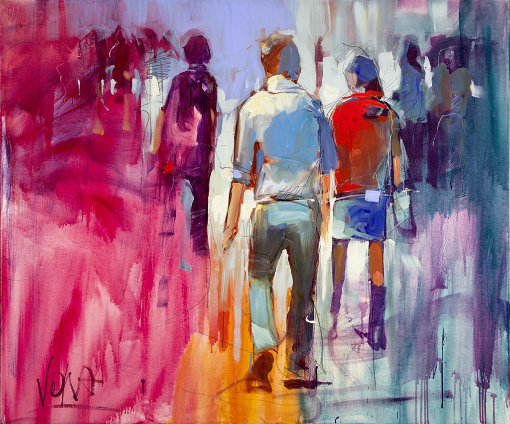 People 01, 100x120 cm/39,4 x 47,2 inch, acrylic on canvas