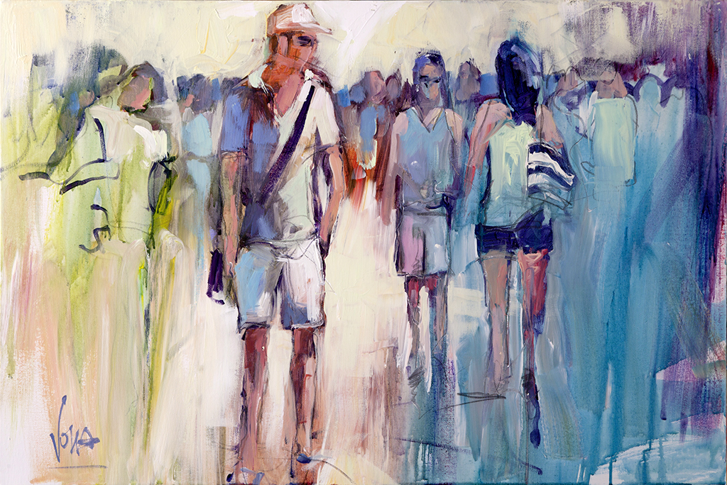 People 10, 60x90 cm/23,62x35,43 inch, acrylic on canvas.