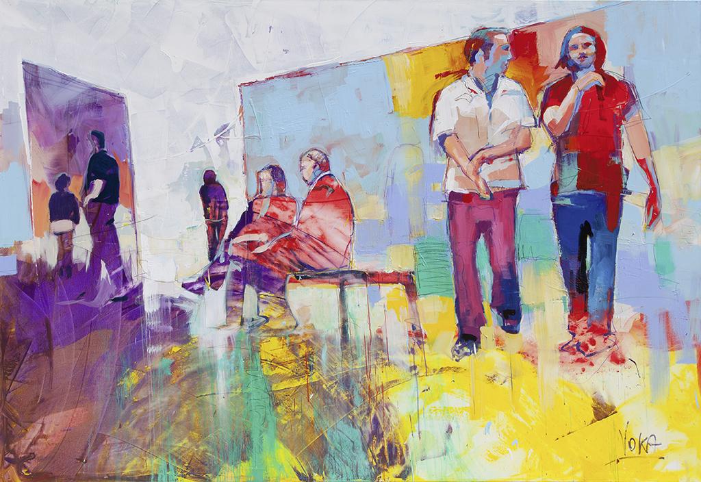People 13, 190x280 cm/74,8x110,24 inch, acrylic on canvas