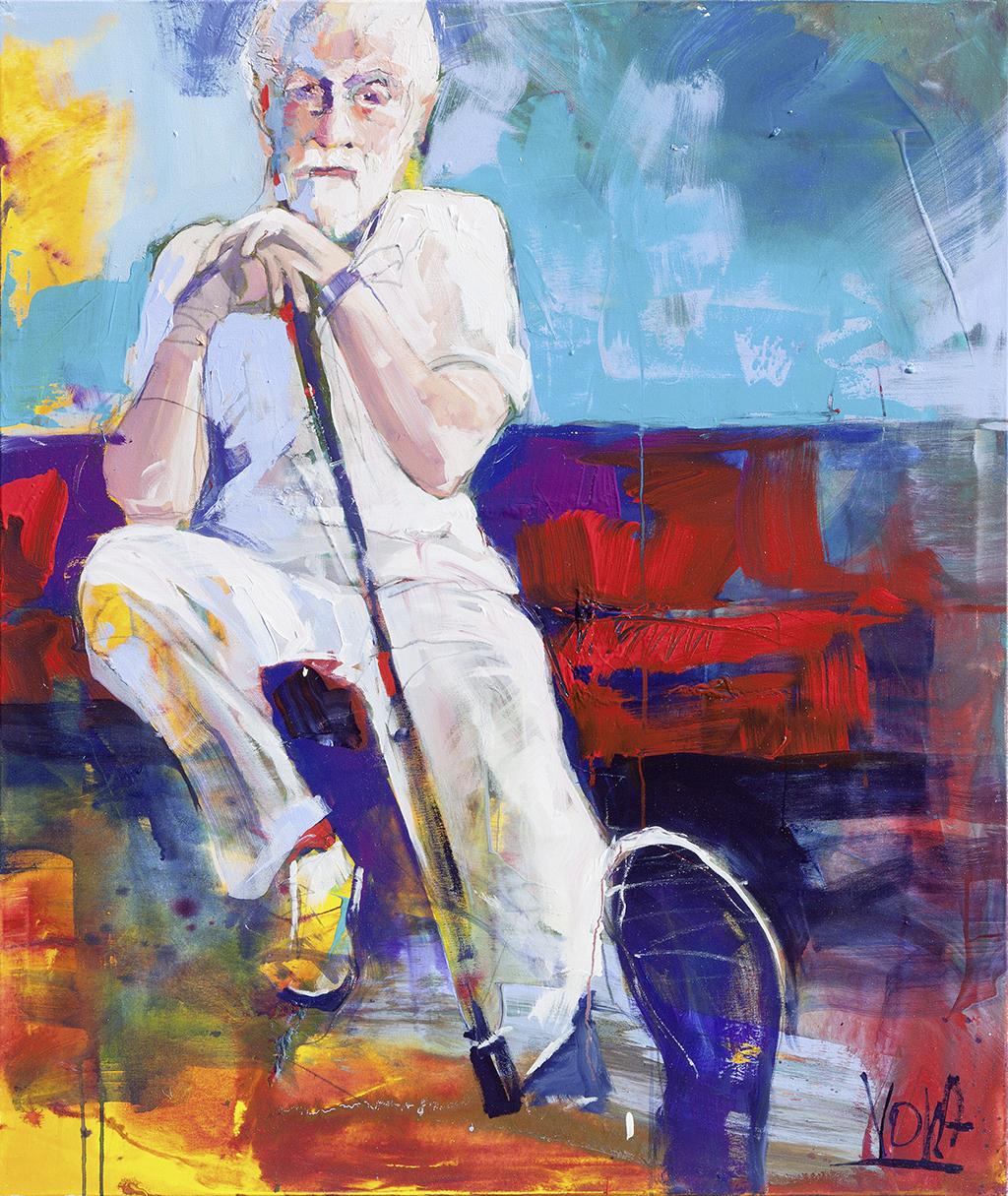 Wise Man, 120x100cm/ 47,2x39,4 inch, acrylic on canvas