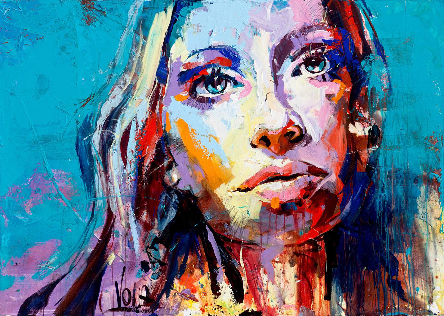 Head, 100x140 cm/39,4x56,1 inch, Acrylic on Canvas