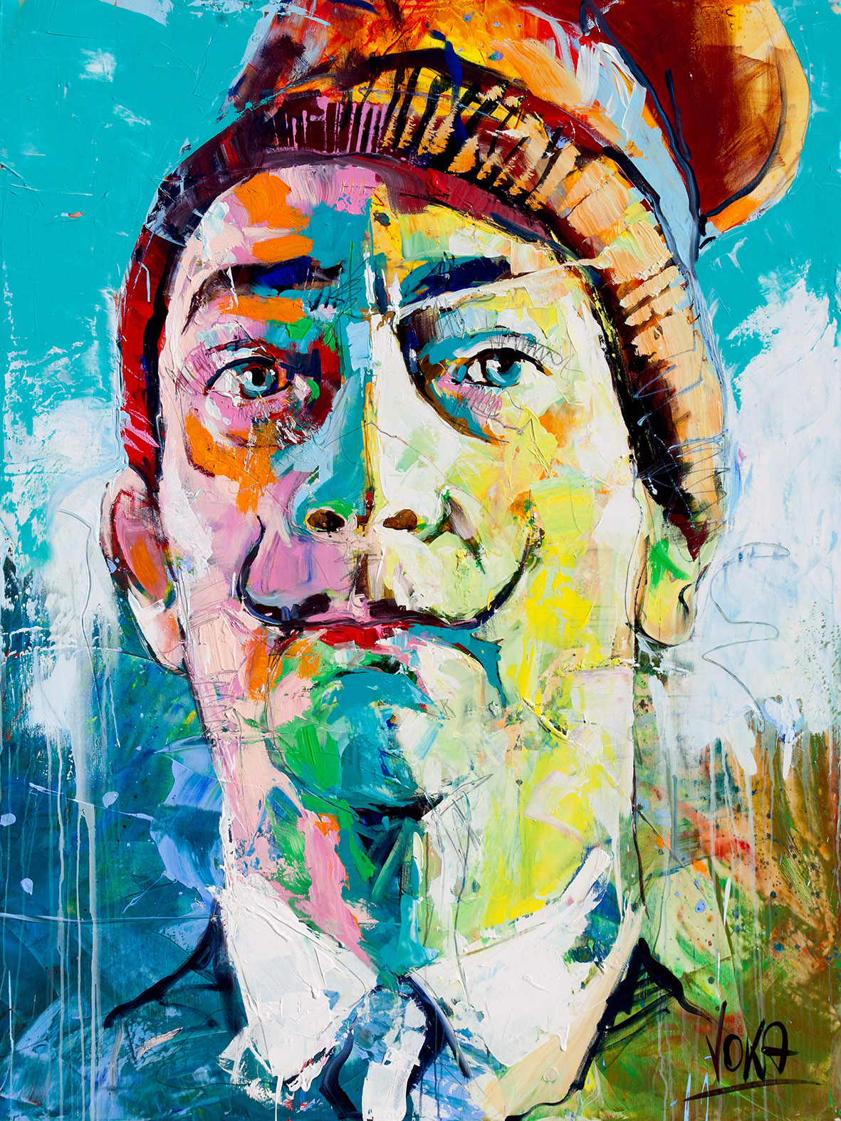 Salvador, 200x150 cm/78,7x59,0 inch, Acrylic on Canvas