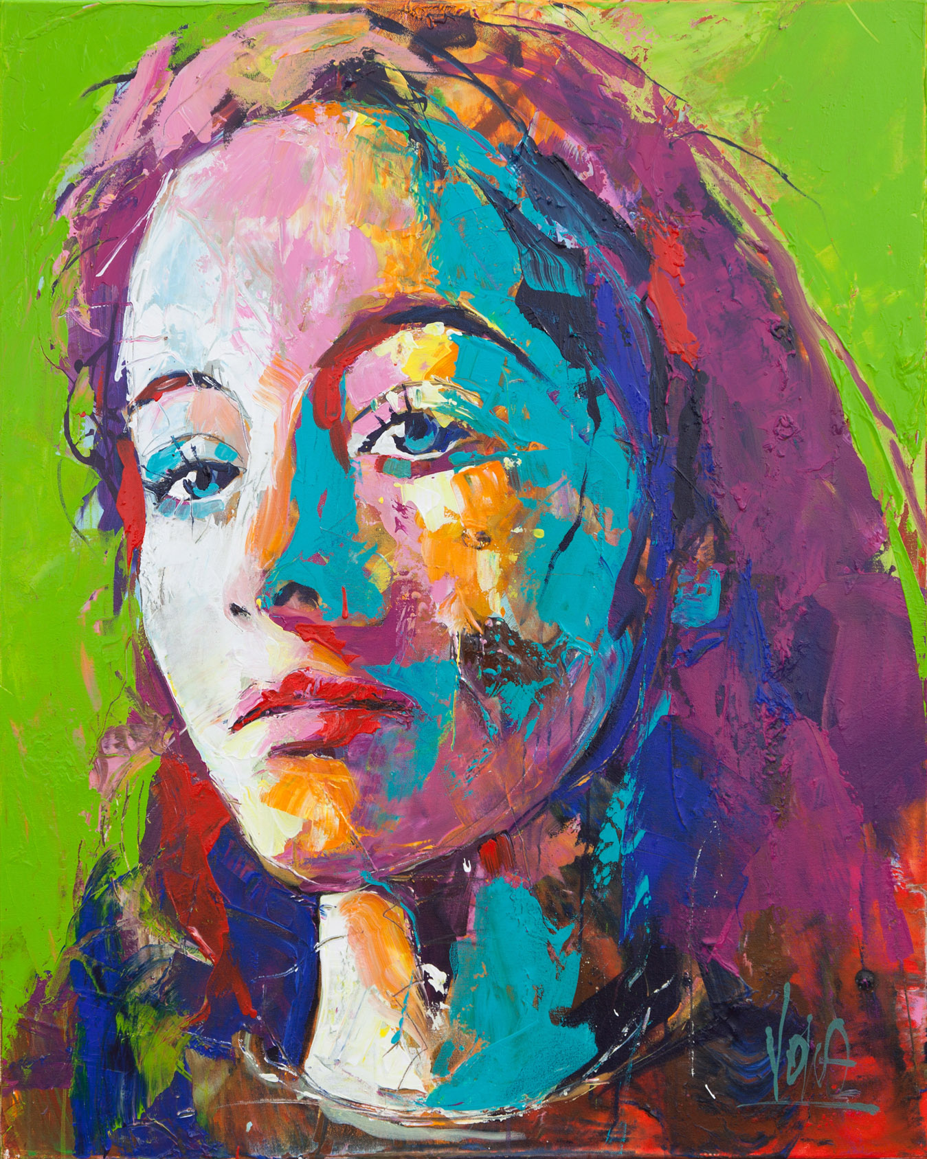 Head, 80x100 cm/31,5x39,4 inch, Acrylic on Canvas
