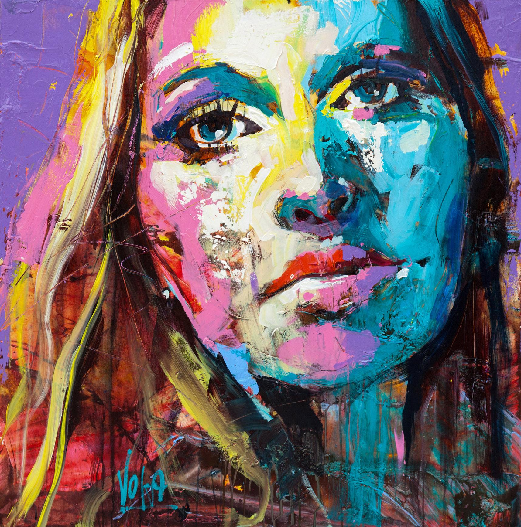 Head, 100x100 cm/39,4x39,4 inch, Acrylic on Canvas