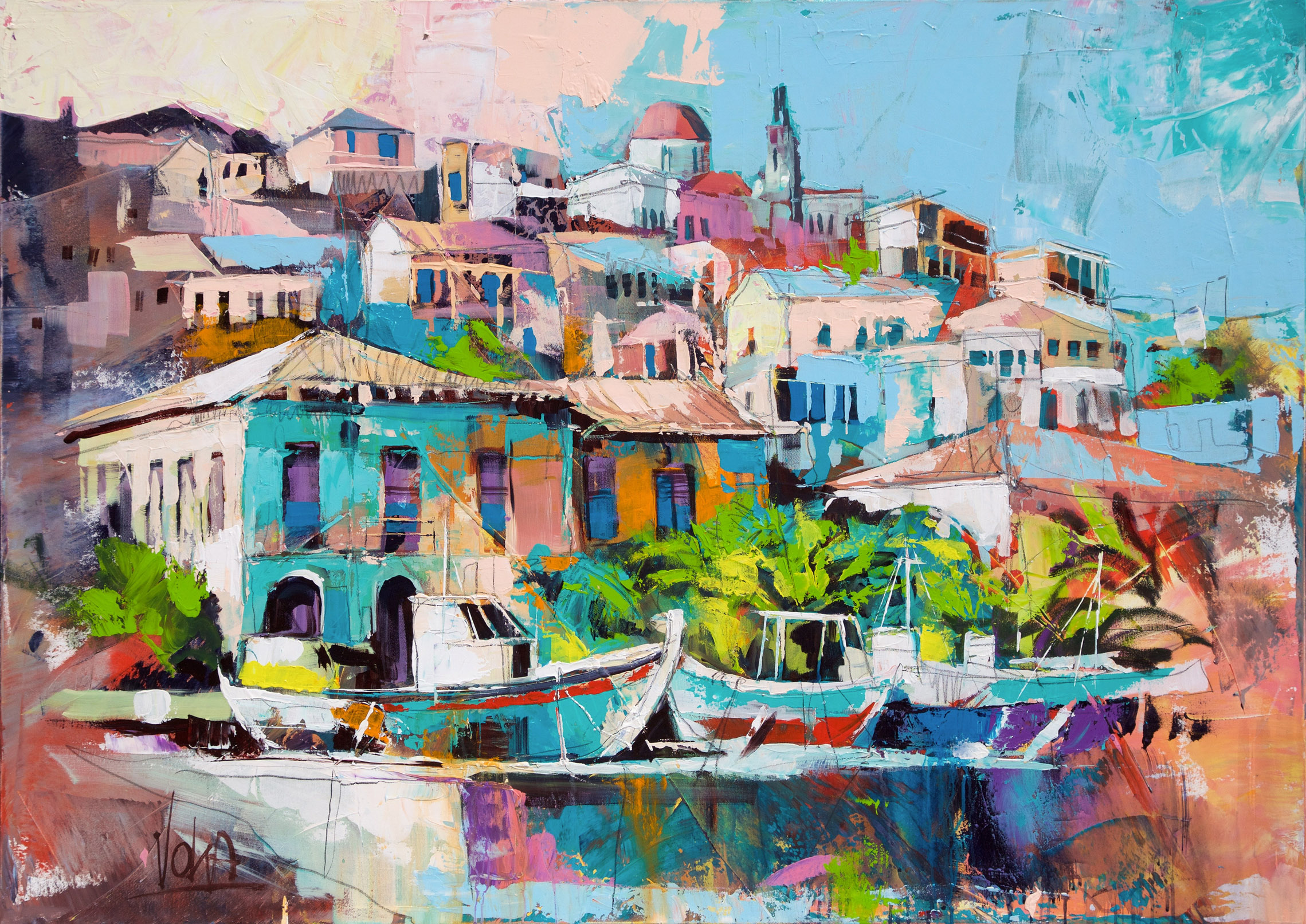 Koroni, 100x140 cm/39,4x55,1 inch, Acrylic on Canvas
