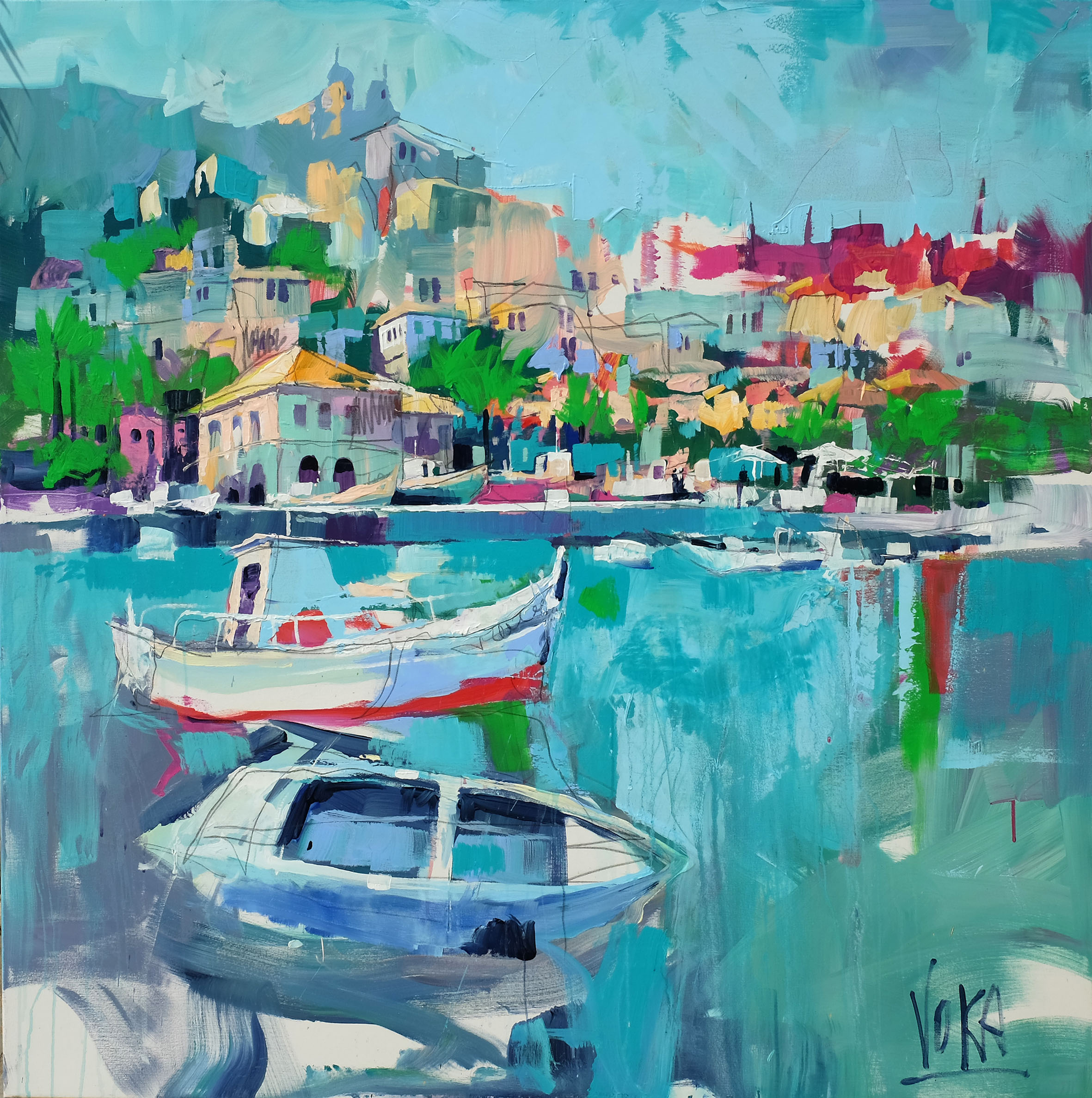 Koroni, 150x150 cm/59,1x59,1 inch, Acrylic on Canvas