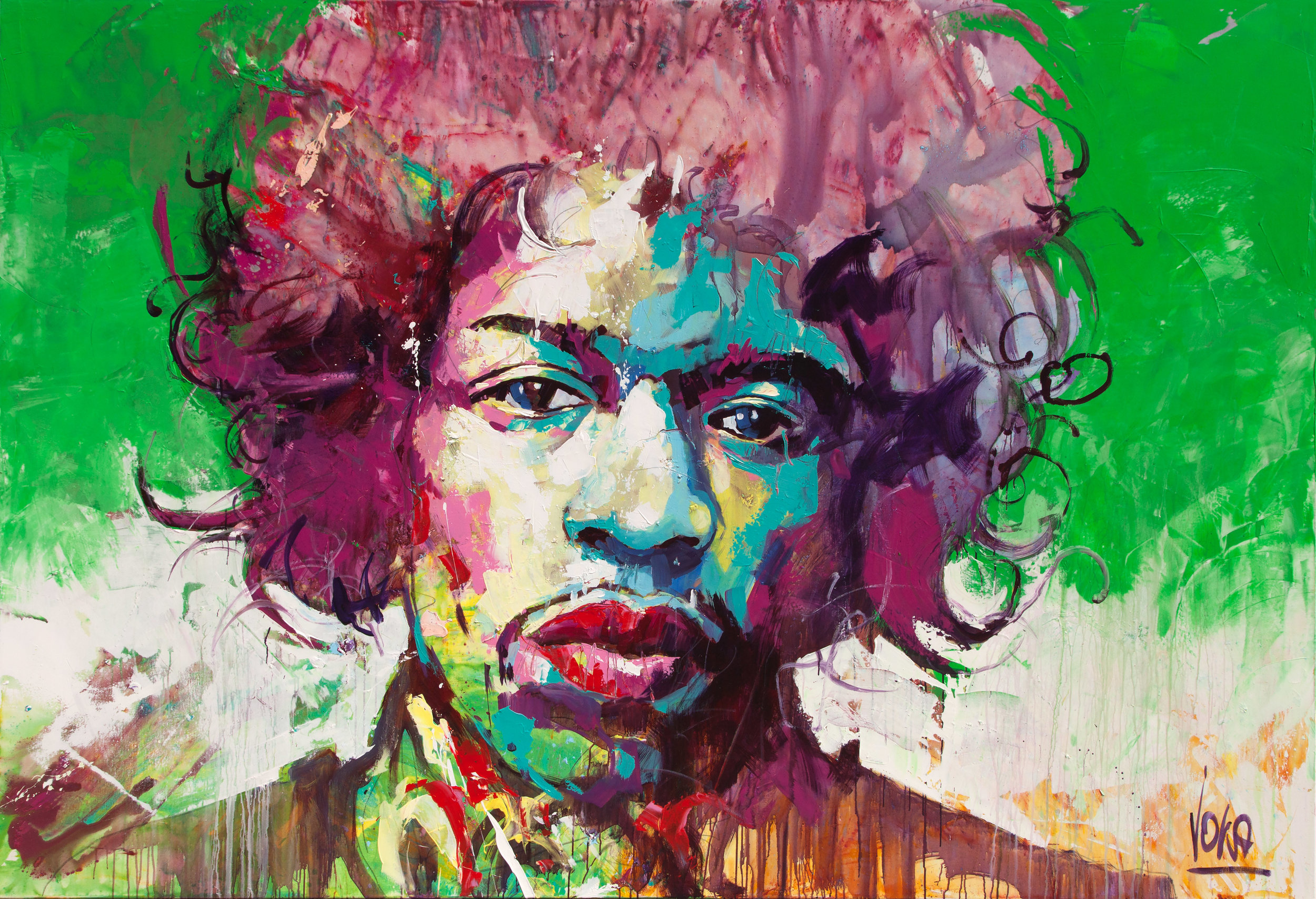 Hendrix, 190x280 cm/74,8x110,2 inch, Acrylic on Canvas