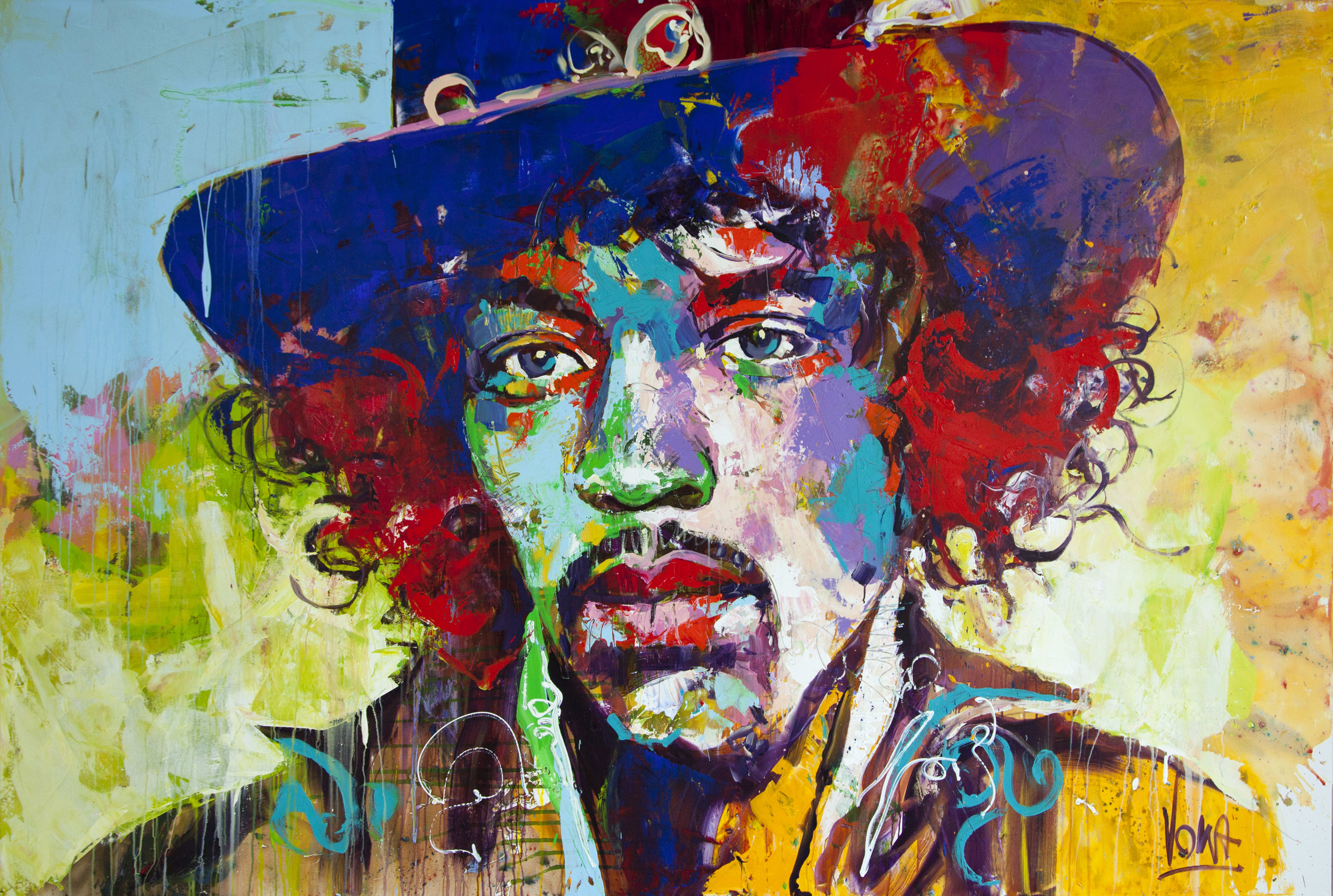 Jimi, 190x280 cm/74,8x110,2 inch, Acrylic on Canvas