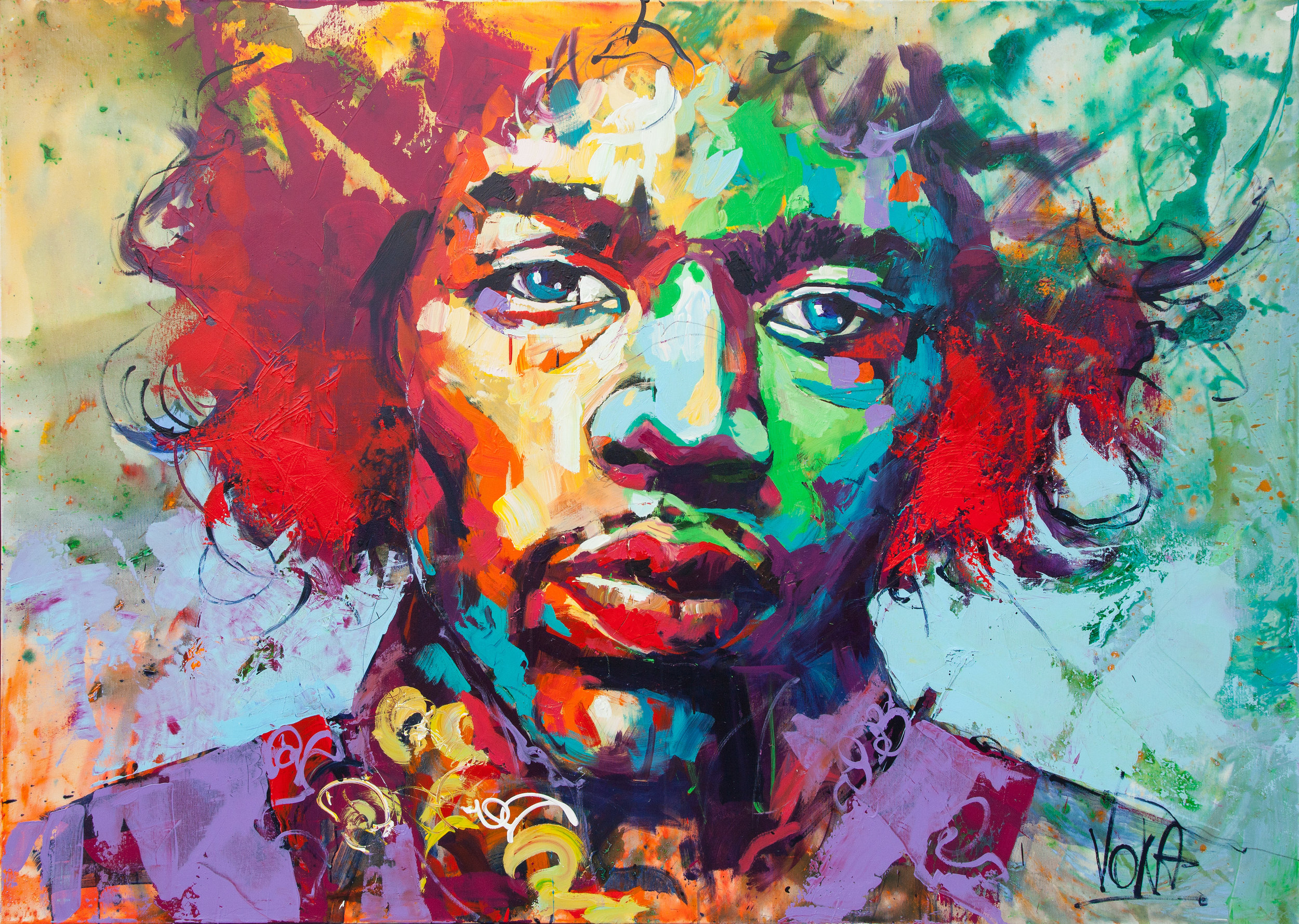 Jimi, 150x200 cm/59,1x78,7 inch, Acrylic on Canvas