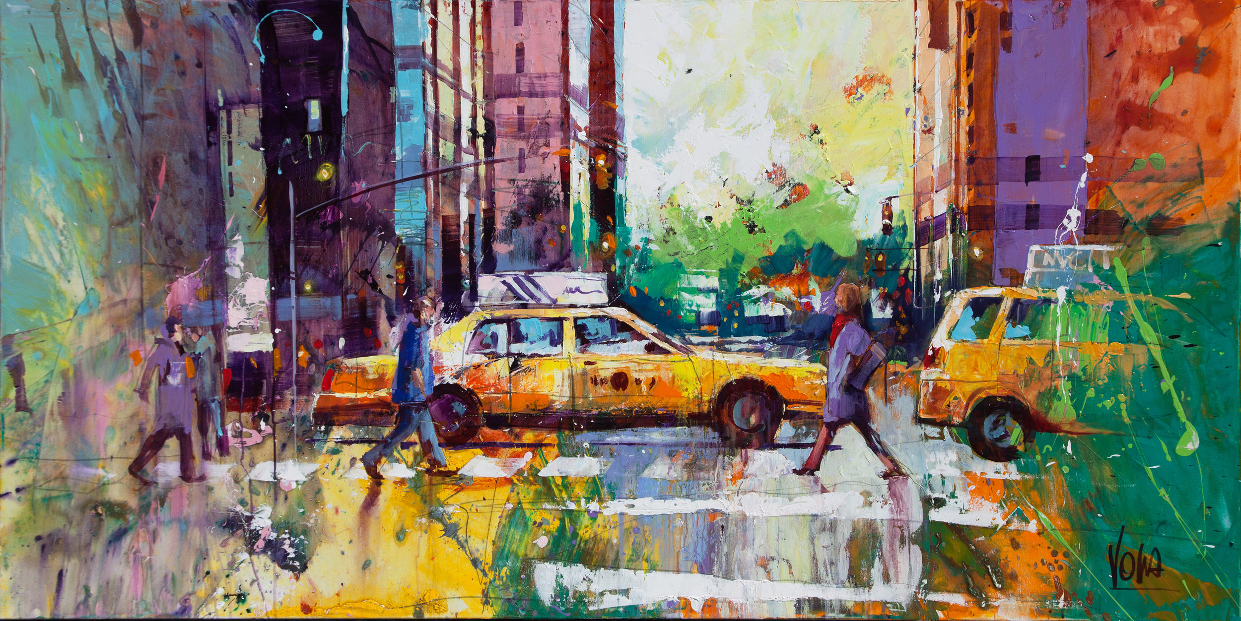 New York City, 100x200 cm/39,4x39,4 inch, Acrylic on Canvas