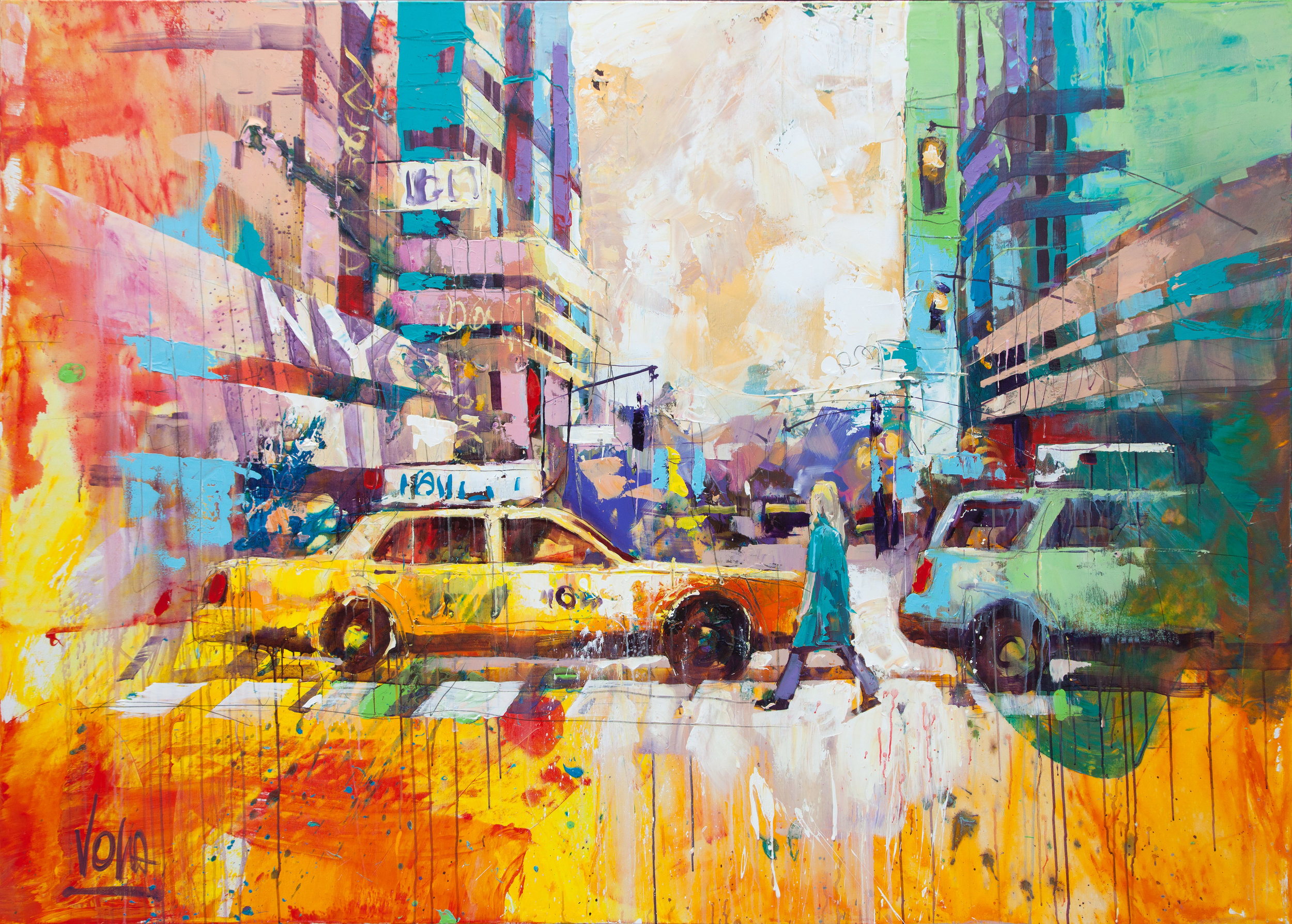 New York City, 150x210 cm/59,1x82,7 inch, Acrylic on Canvas