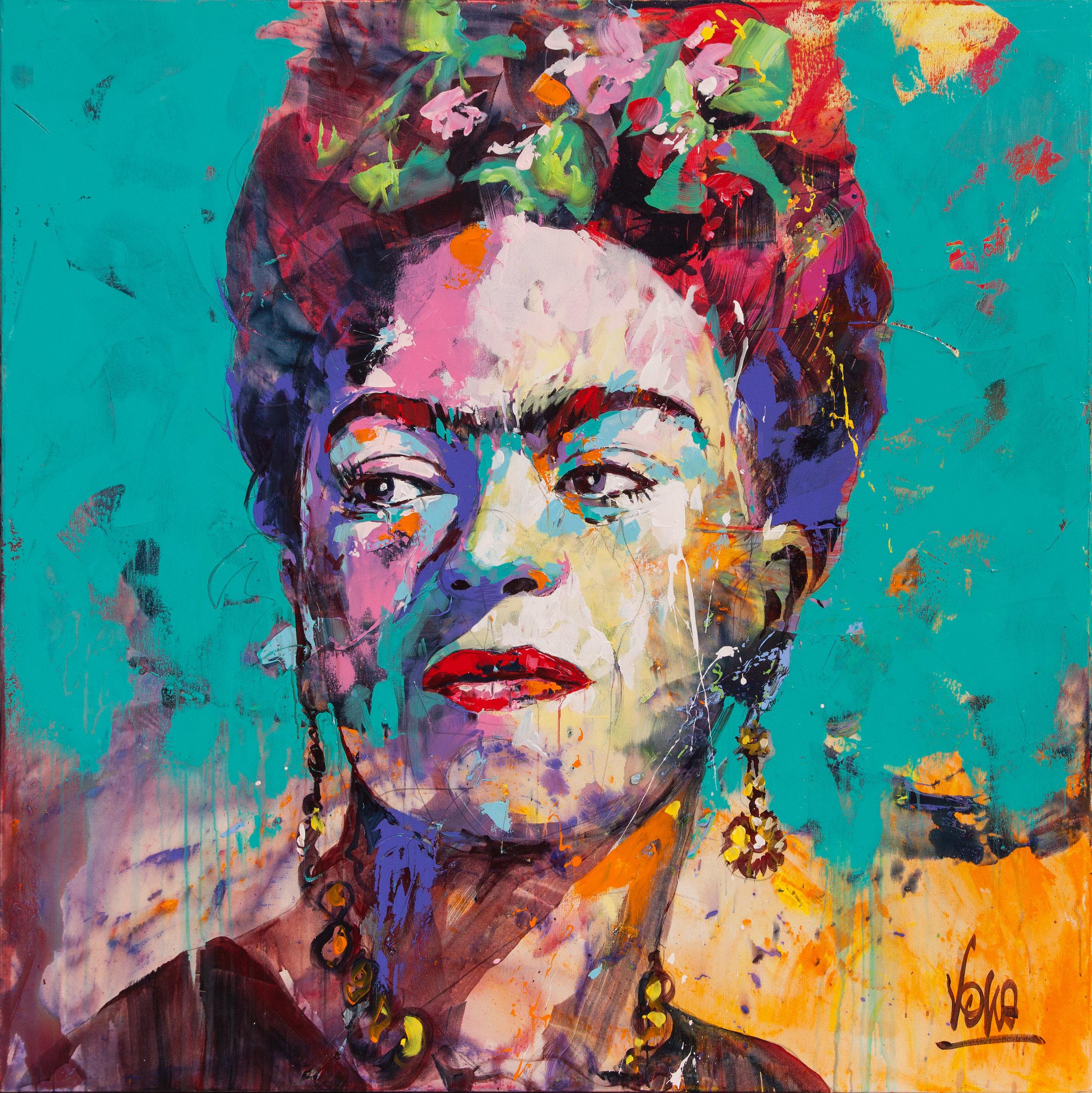 Frida, 150x150 cm/59,1x59,1 inch, Acrylic on Canvas