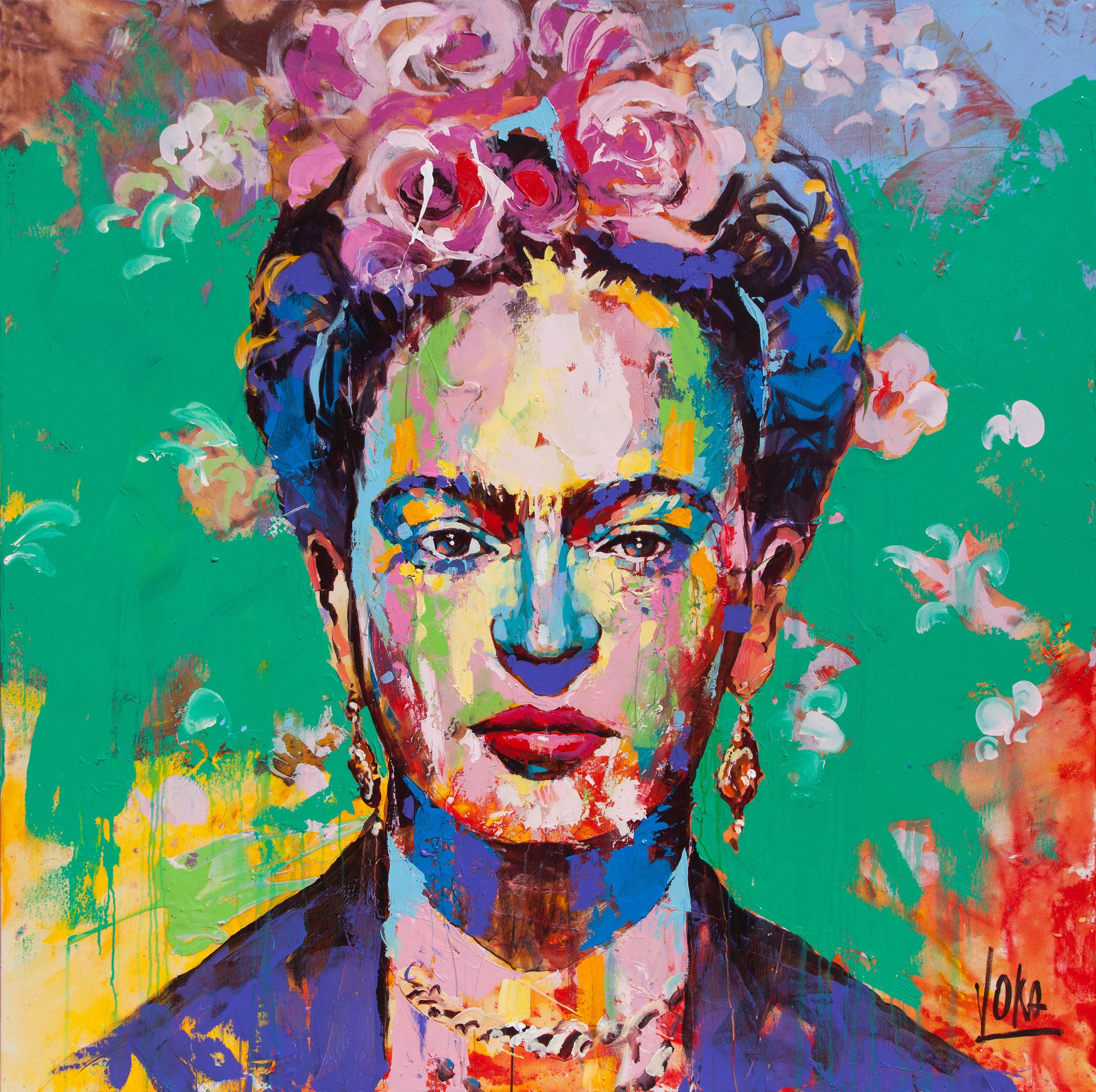 Frida, 170x170 cm/66,9x66,9 inch, Acrylic on Canvas