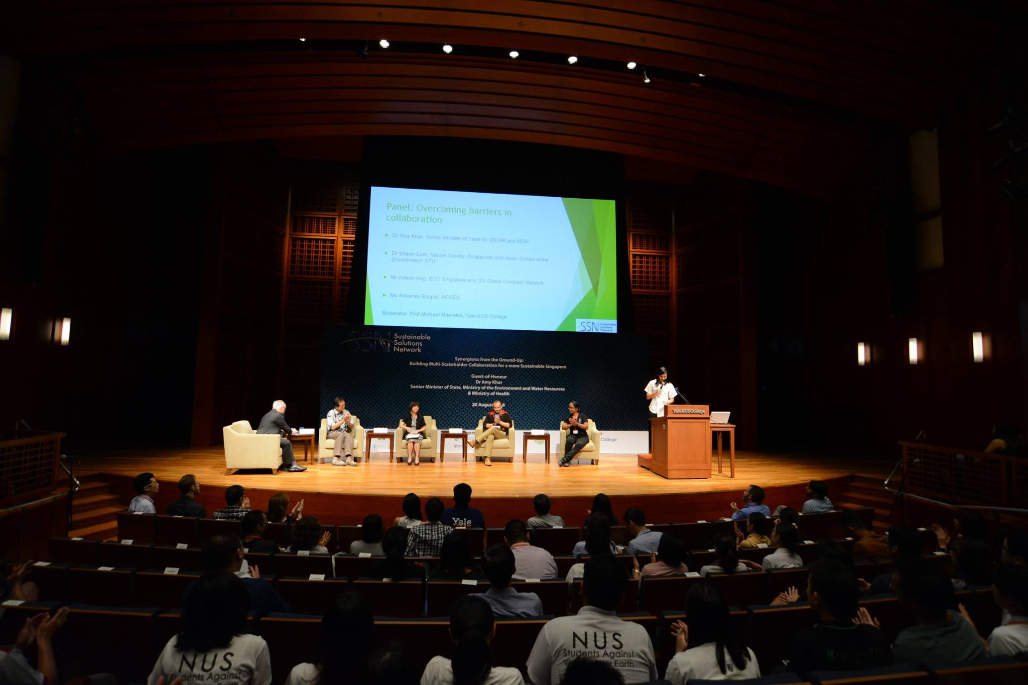 The panel discussion at the inaugural SSN conference.