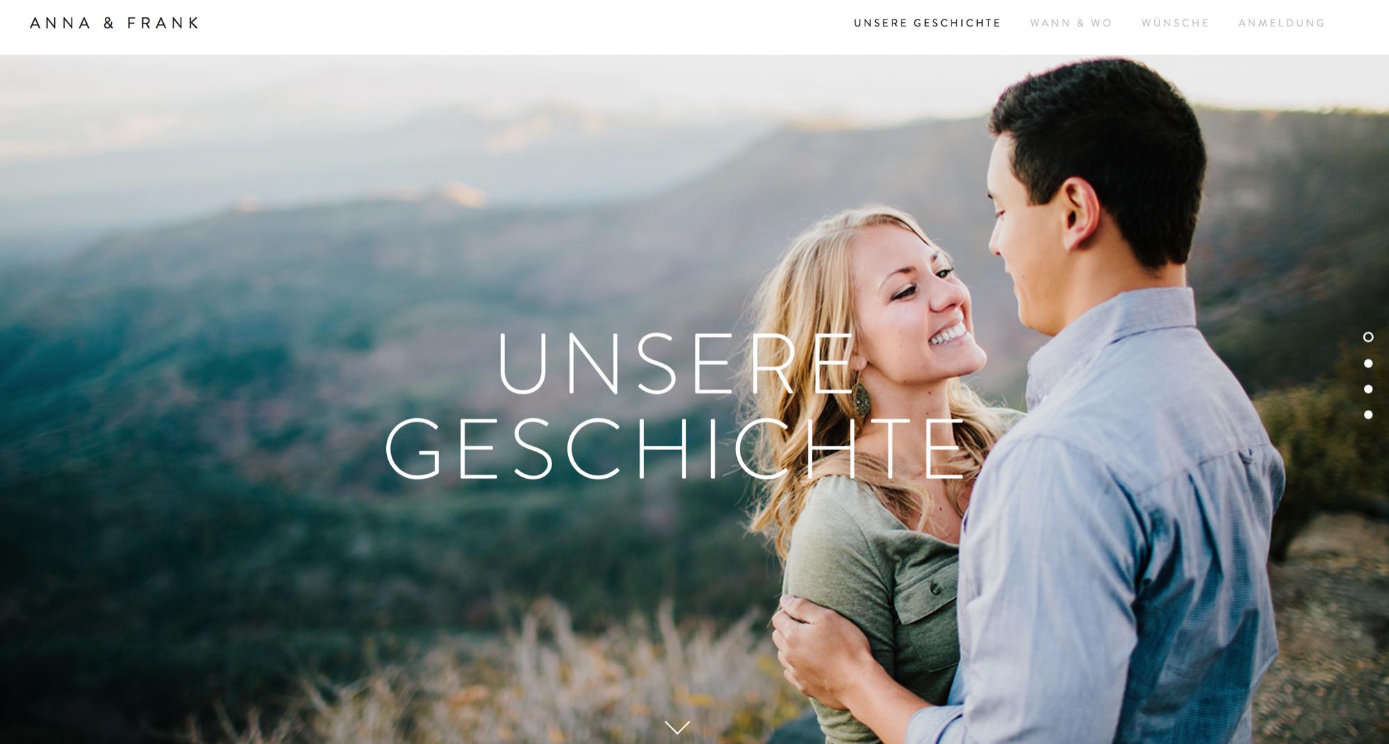 Hochzeitshomepage Koblenz