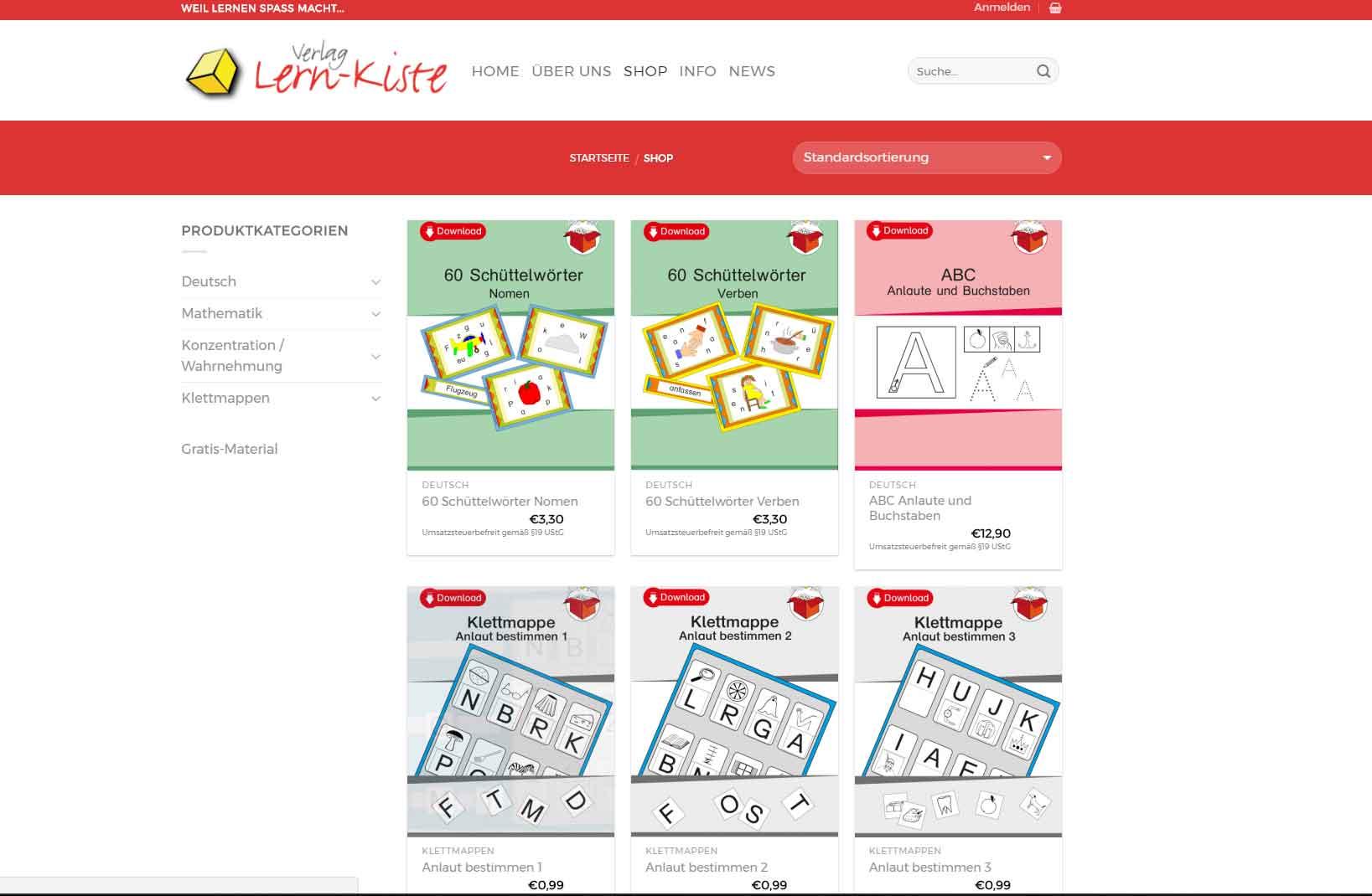 Lern-Kiste Shop