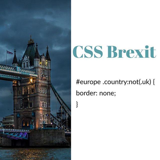 Wir haben uns da mal Gedanken gemacht, wie wir den #Brexit mit #CSS beschreiben können🤓 #europe #brexitmemes #bonn #köln #Berlin #cloudrocker #webdesignagency #agenturleben #tmobile #europeanunion #europestyle_  #europetravel  #programming #programmierung #digitalart #digitalcreative #creativeunions #dasistdasende #ilovetocode #code