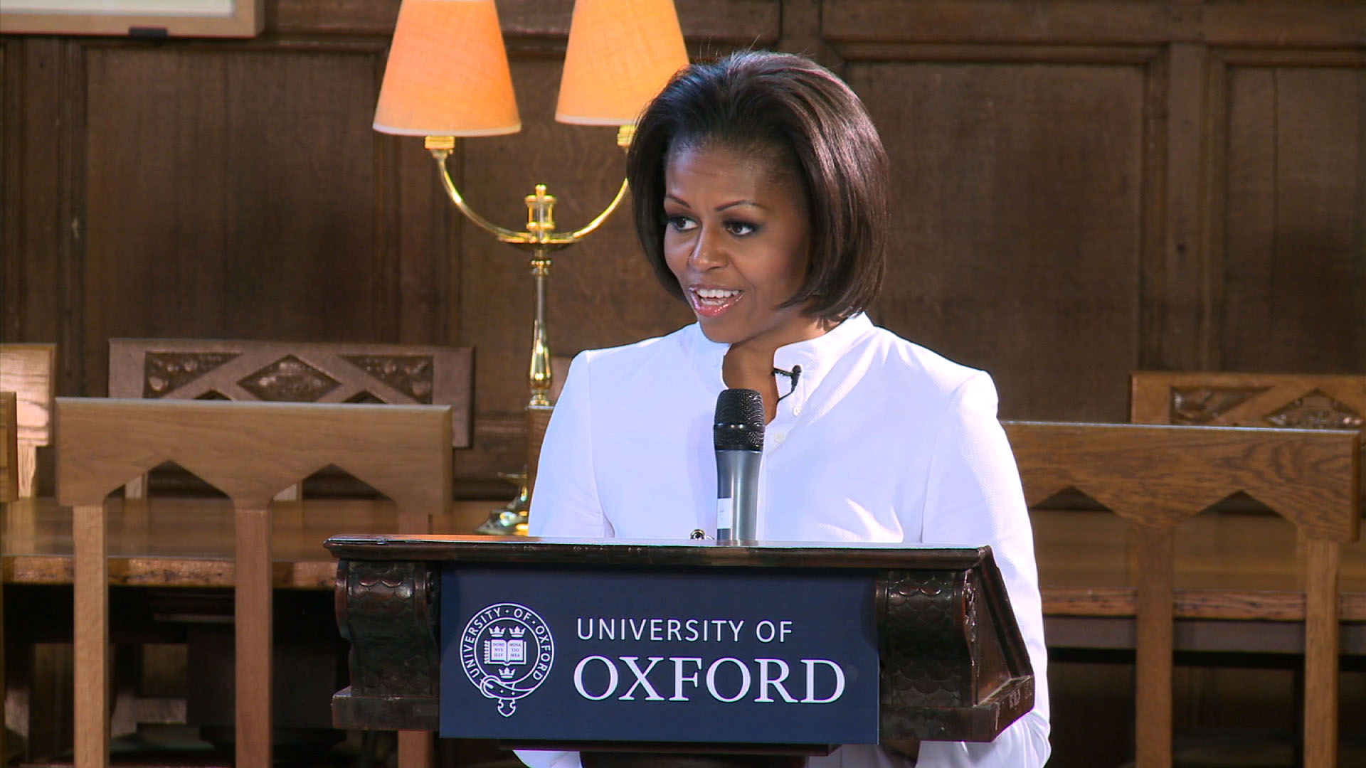 We captured Michelle Obama's wise words for local school children on a visit as First Lady.