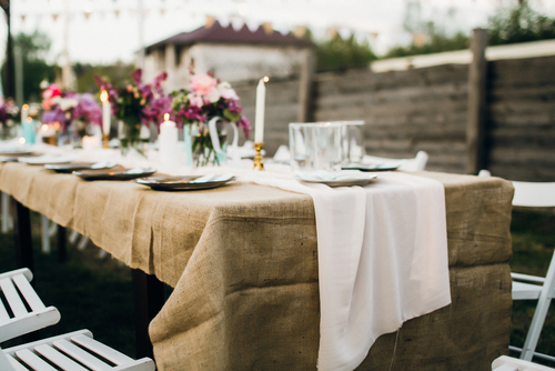 hessian table cloth custom made