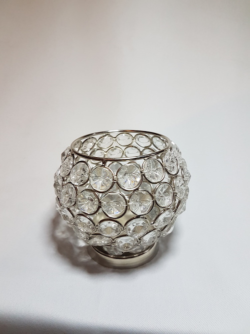 CRystal ball tealight votive