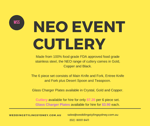 event-cutlery-charger-plates-hire-sydney