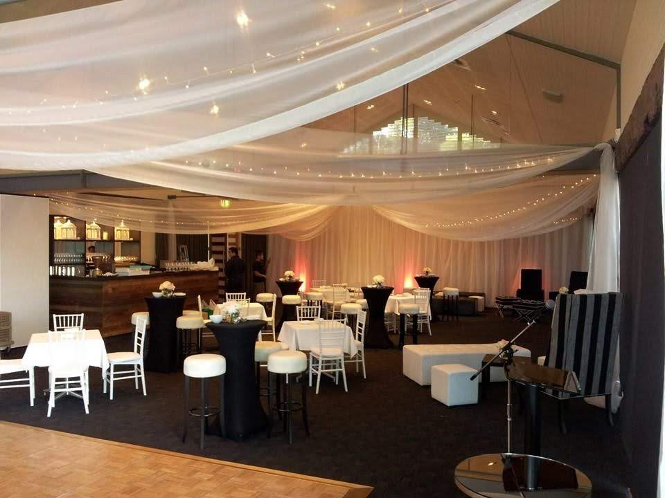 white organza drapes with fairy lights @ Woolwich deckhouse sydney