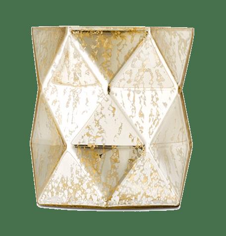 Gold Hurricane Vase 20 x 12cm