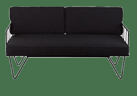 Black Metal wire 2 seater sofa