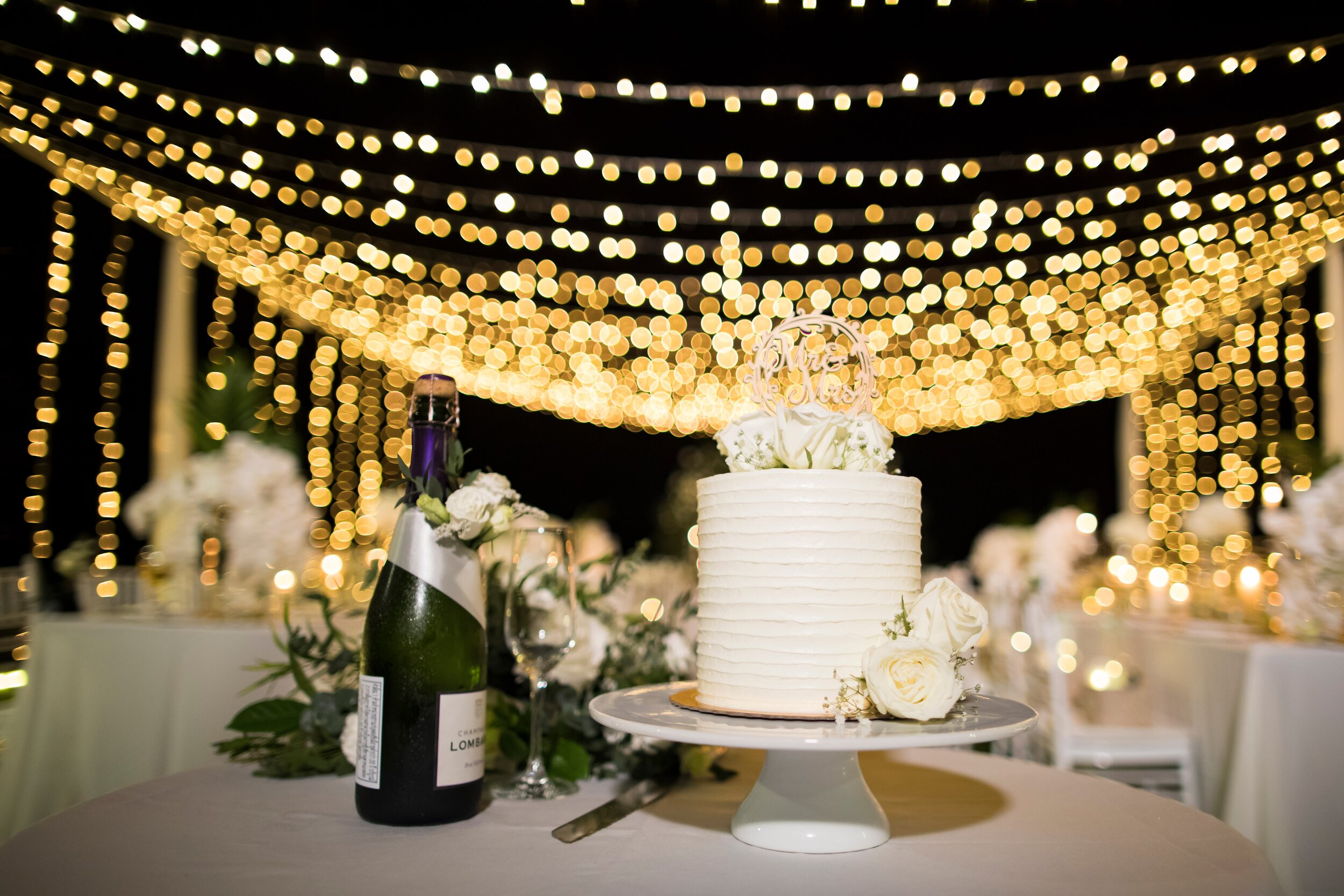 Decorative Lighting - Add decorative lighting to your wedding reception