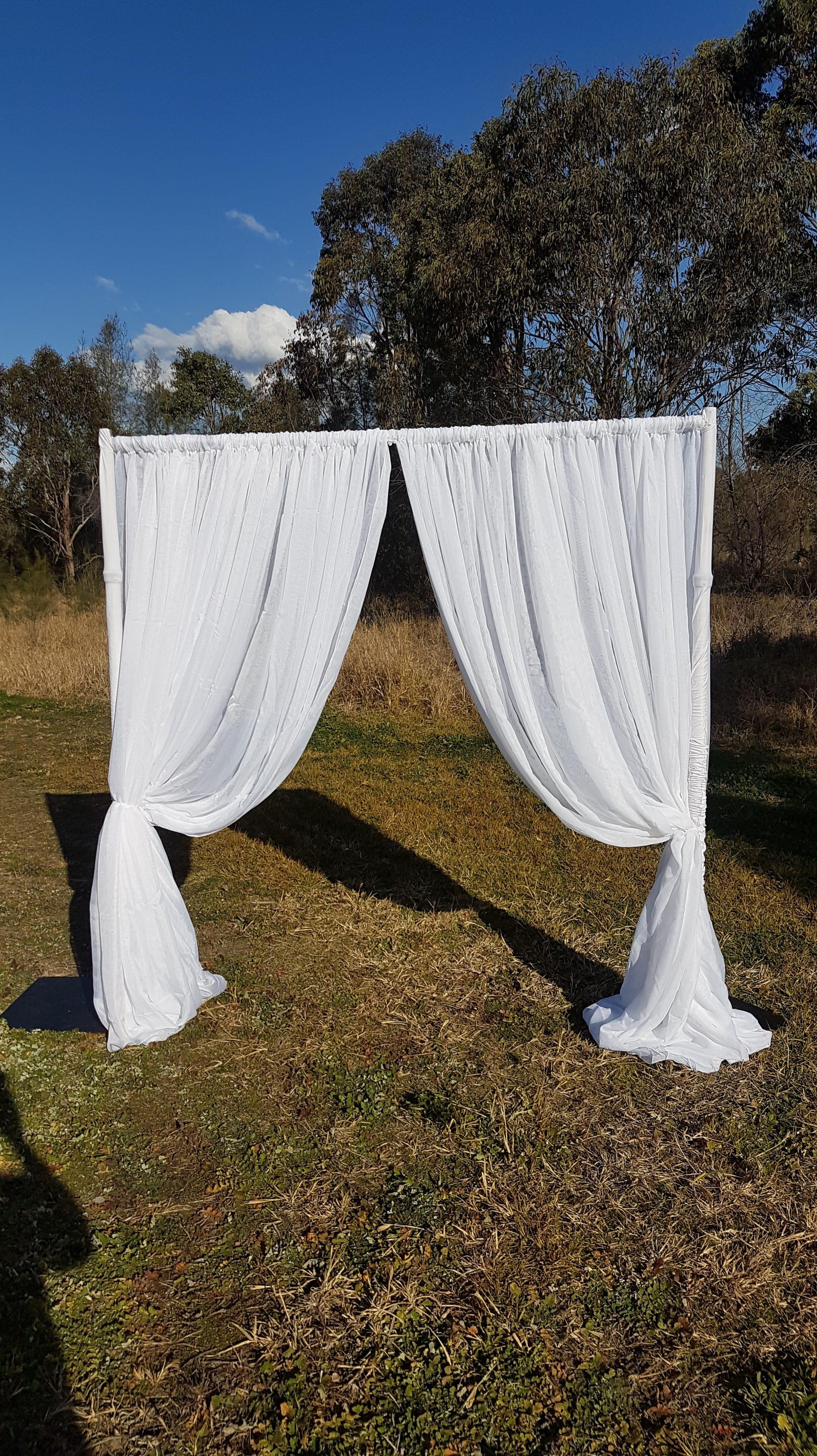 White Draped Fabric Arbour
