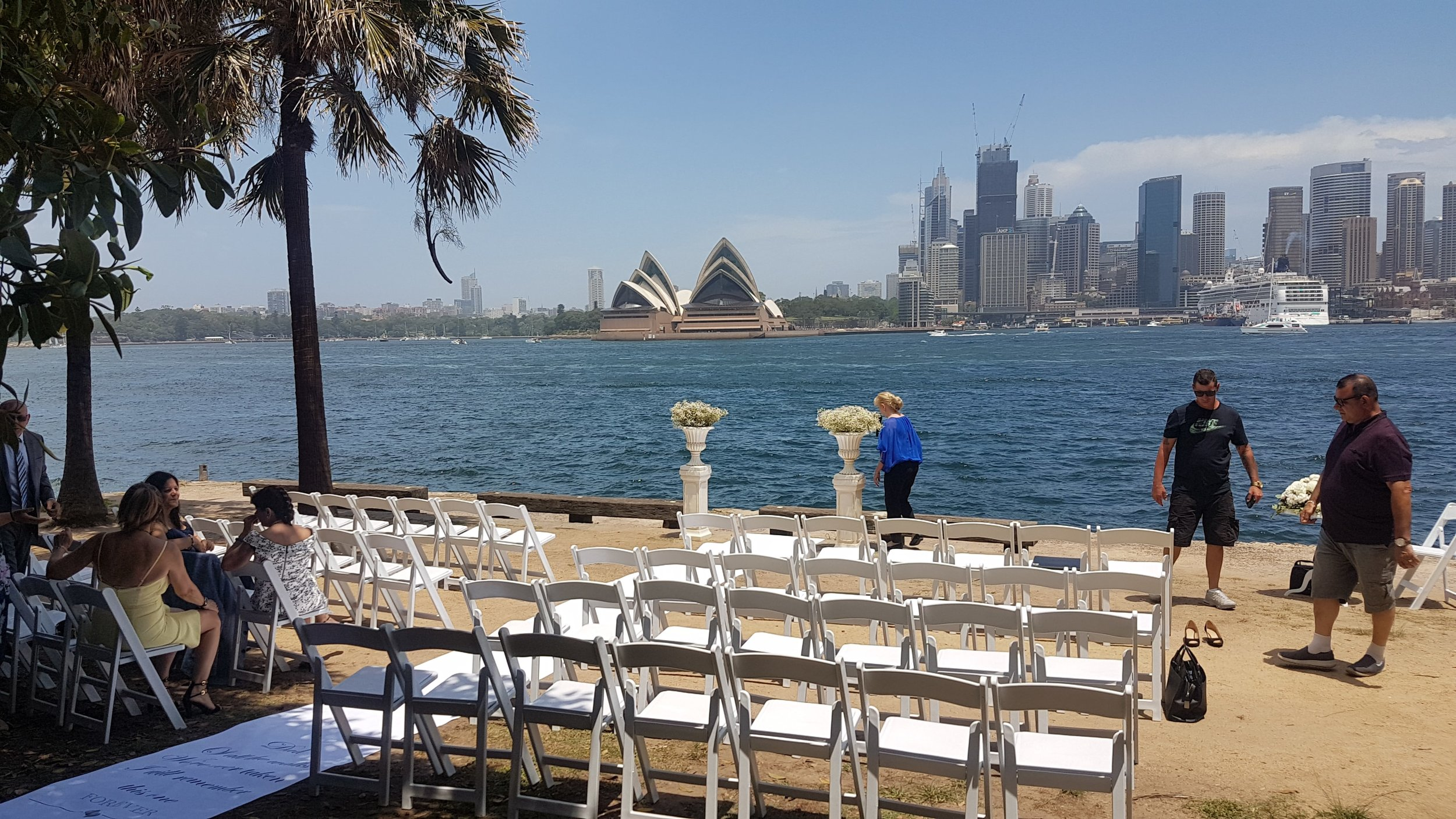 Milsons Point Sydney harbour wedding ceremony