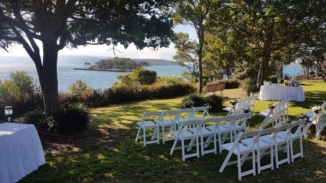 mckell Park Darling point wedding ceremony