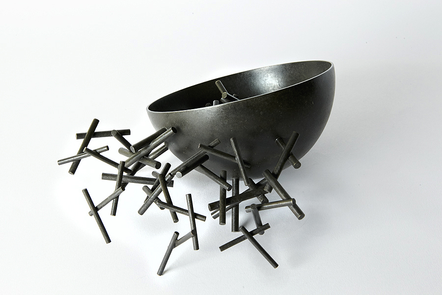 'Rambling Bowl' in patinated copper