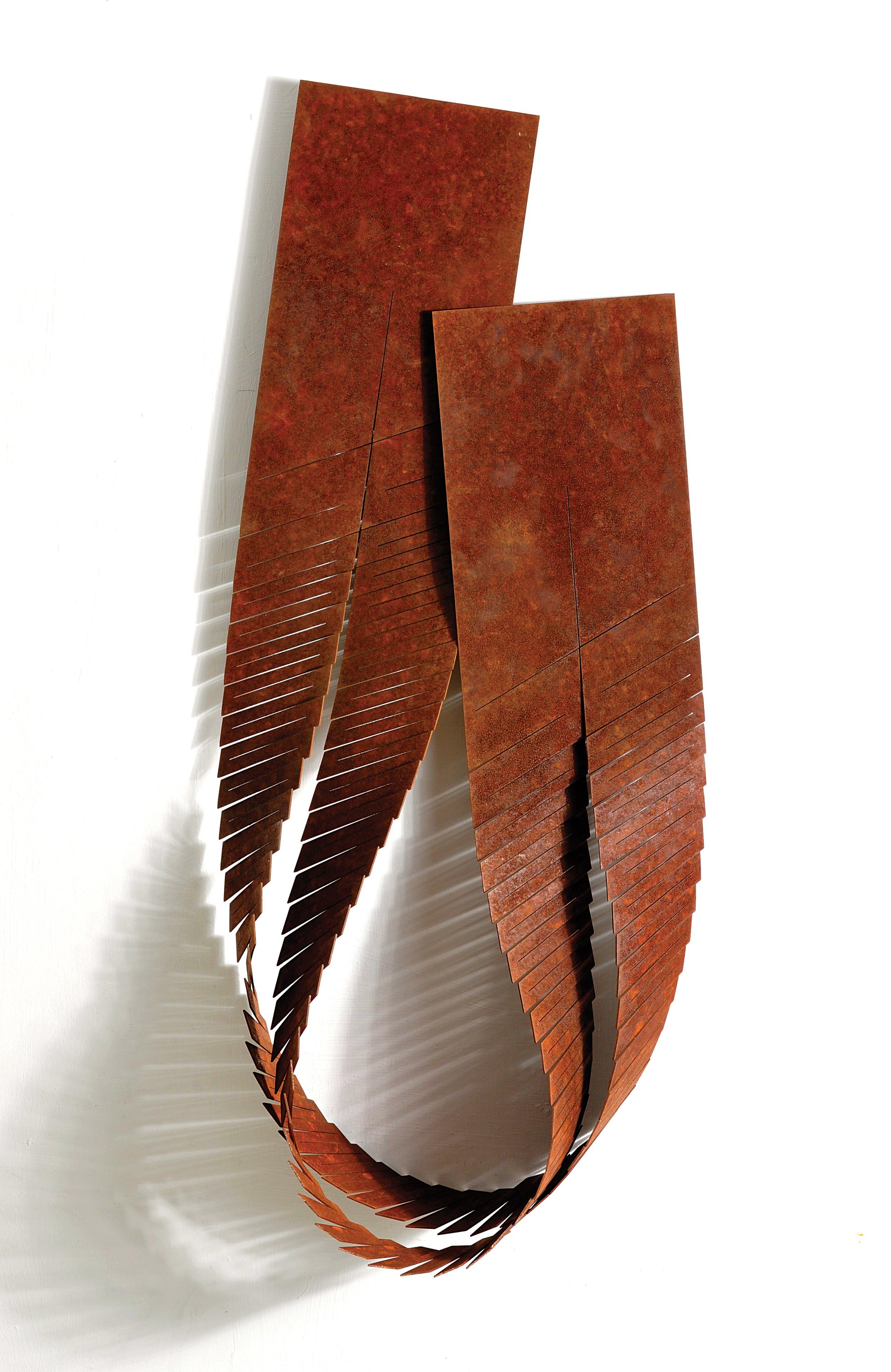 'Loop' wall piece corten steel