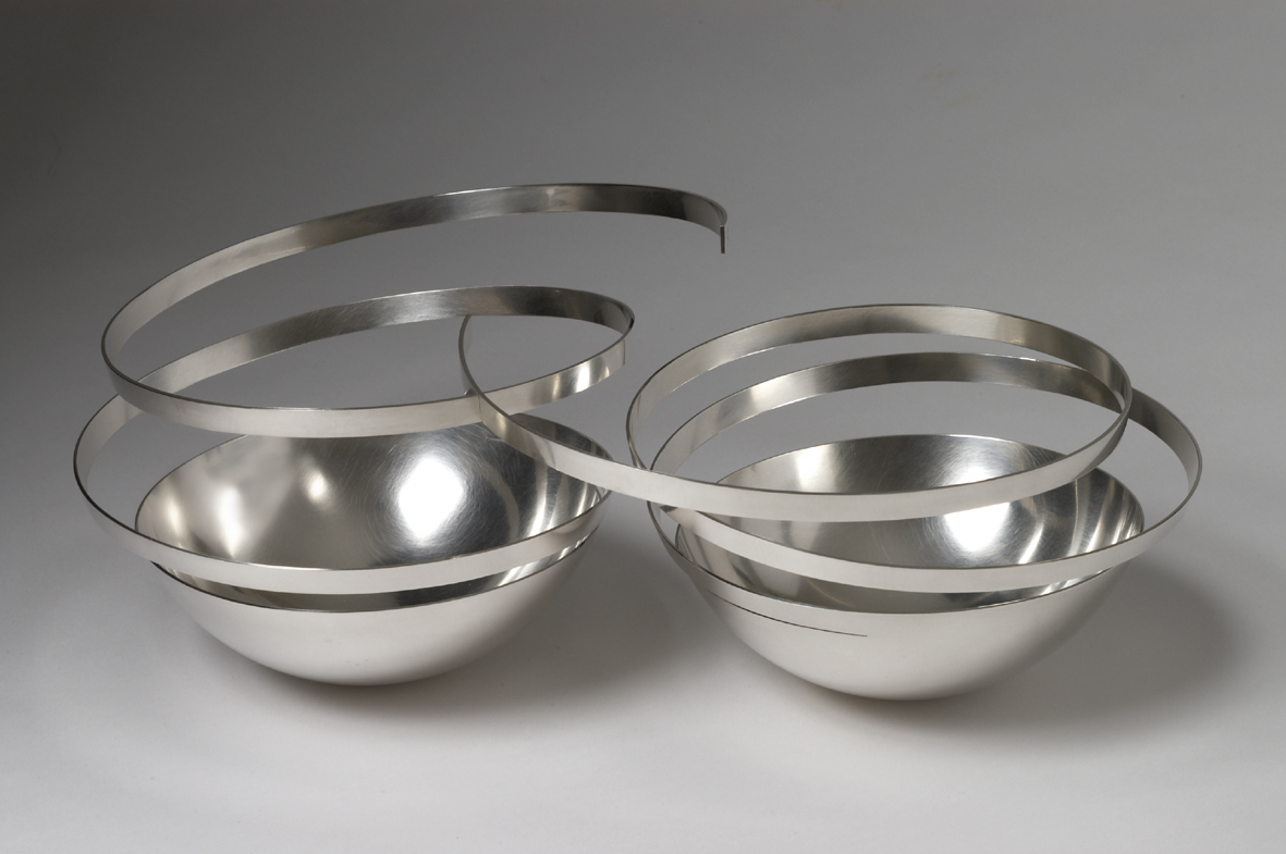 'Connected Bowls' sterling silver